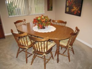Merveilleux Hard Rock Maple Dining Room Set   Apopka, FL